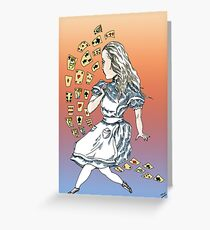 Alice and Cards part one Greeting Card