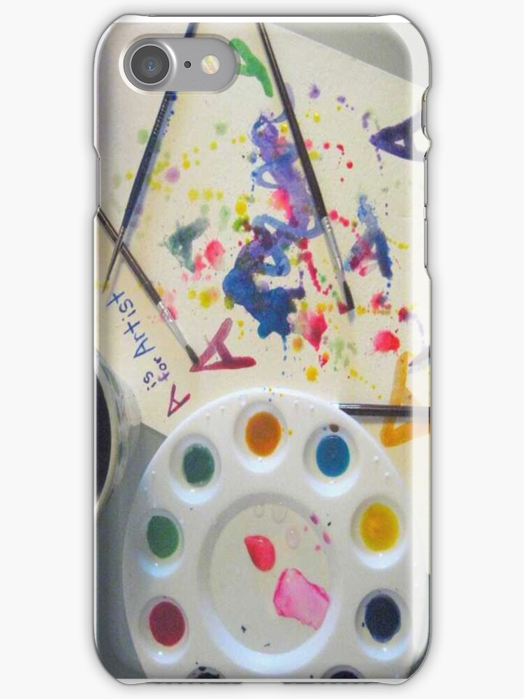 A is for Artist - iPhone Case by hallucingenic