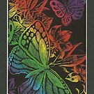 Butterfly Scratch Board - iPhone Case by hallucingenic