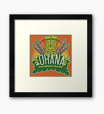'Ohana means family ... Framed Print