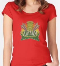 'Ohana means family ... Women's Fitted Scoop T-Shirt