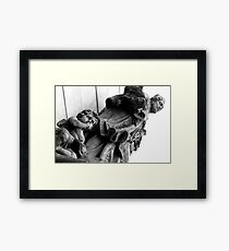 Shhhh! Sleeping Saint ... just read him a bed-time story ... Framed Print