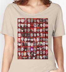 Gesichter des Horrors Collagenkunst Loose Fit T-Shirt