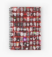 Faces of Horror Collage art Spiral Notebook