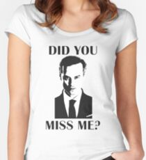 Moriarty, Did You Miss Me? Women's Fitted Scoop T-Shirt