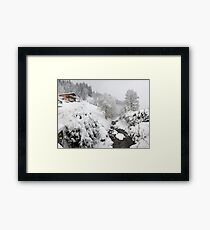 Snow House Framed Print