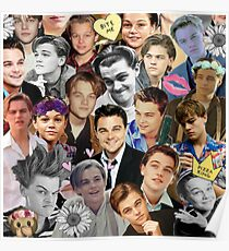 Leonardo DiCaprio Collage Poster