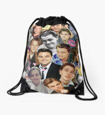 Leonardo DiCaprio Collage Drawstring Bag
