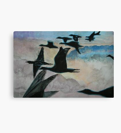 Migrating over the Clouds Canvas Print