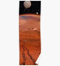 Wheel Tracks on Mars Poster