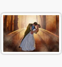 Wedding Bride and Groom Sticker