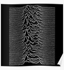 Music band waves - Black&White Poster