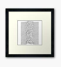 Music band waves - white&black Framed Print