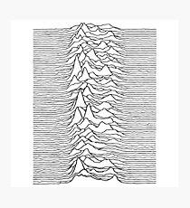 Music band waves - white&black Photographic Print