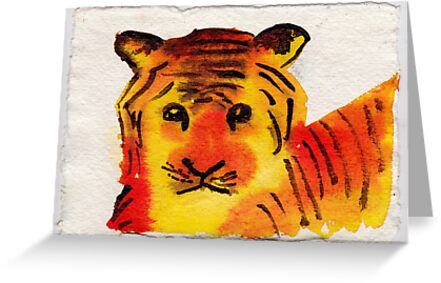 Young Tiger, 2007 - ink on khadi by phoebetodd