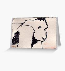 Gorilla, 2007 - ink on khadi Greeting Card