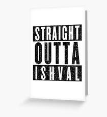 Ishvalan with Attitude Greeting Card