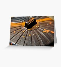 Splattered Garbage Can Lid Greeting Card