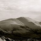 Snow on Skiddaw - Lake District National Park, Cumbria, Uk. by Lou Wilson