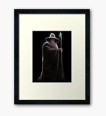 Neon Wizard Framed Print