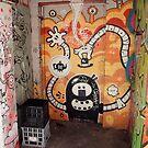 Milk Crates in the Doorway. Croft Alley. by John Sharp