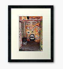 Milk Crates in the Doorway. Croft Alley. Framed Print