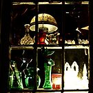 Wayside Antique Shop, Colored Glass Window by Jane Neill-Hancock