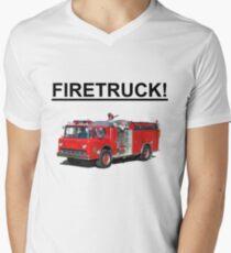 FIRETRUCK!!!! Men's V-Neck T-Shirt