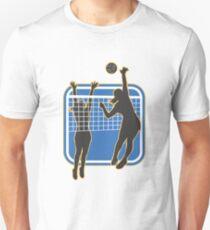 Volleyball Player Spiking Blocking Ball  Unisex T-Shirt