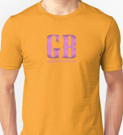 Gutterballs Monogram - Purple with URL T-Shirt