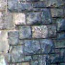 Bearded Ghostly Apparition Against Cemetery Chapel Wall by Jane Neill-Hancock