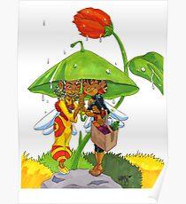 KINFfolkes-UMBRELLA LEAF Poster
