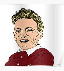 Willie Bauld Cartoon Caricature Poster
