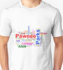 Parks and Recreation - Leslie Knope's Word Collage Unisex T-Shirt