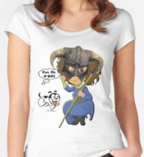 FUS RO D'OH! Women's Fitted Scoop T-Shirt
