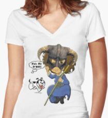 FUS RO D'OH! Women's Fitted V-Neck T-Shirt