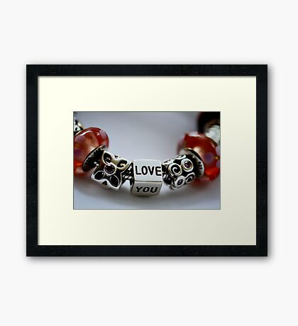 Love you with colour Framed Print