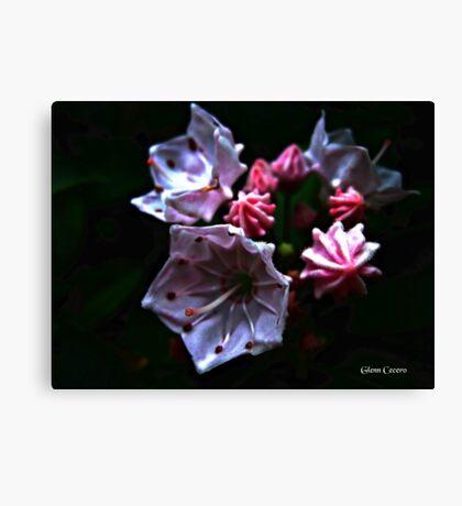 Abstract Mountain Flora Canvas Print
