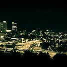 Night Time City of Perth by GerryMac