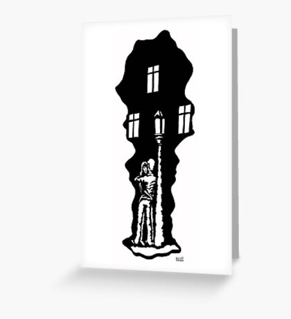 Date black and white pen ink drawing Greeting Card