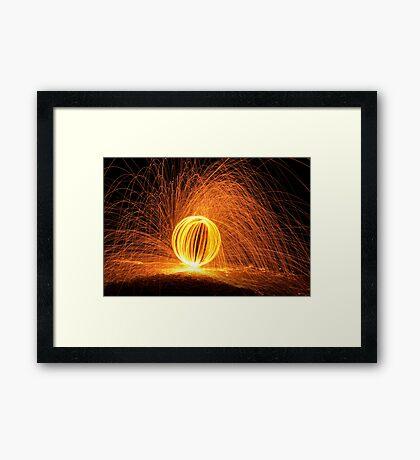 Sparking Orb Framed Print
