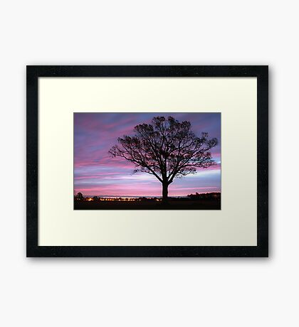 Pastel Skies At Dawn Framed Print