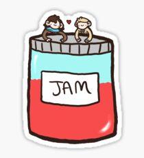 Sherlock, John, and Jam Sticker