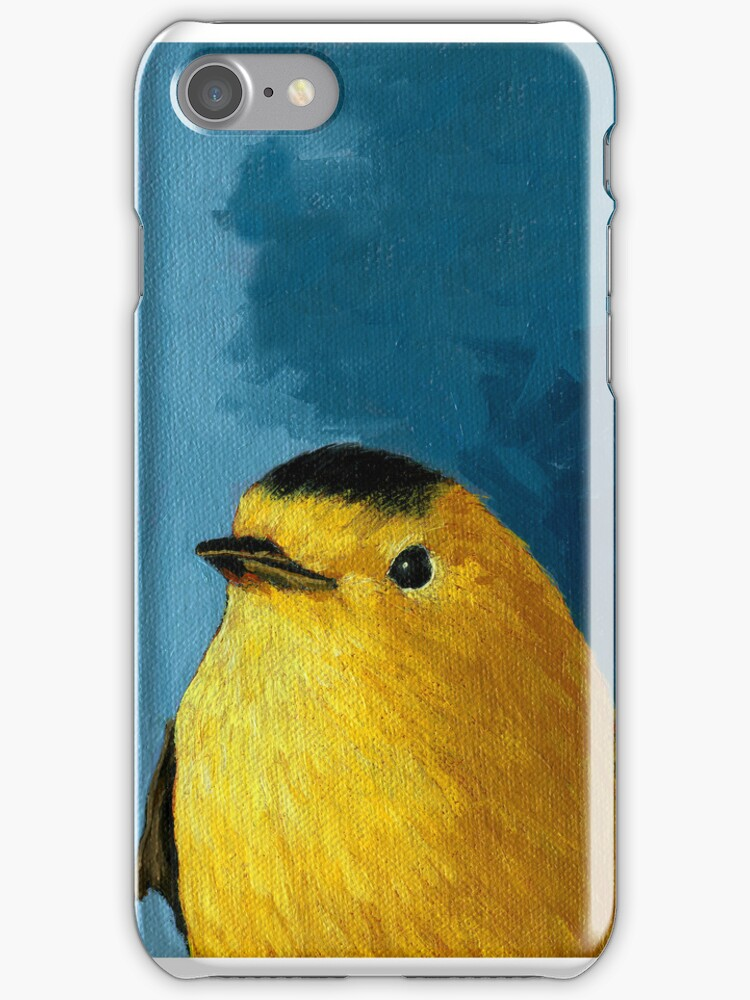 BABY WARBLER - animal iphone case by LindaAppleArt