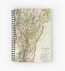 Vintage Map of Vermont (1797) Spiral Notebook
