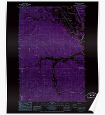 USGS Topo Map Washington State WA Cedarville 240410 1986 24000 Inverted Poster