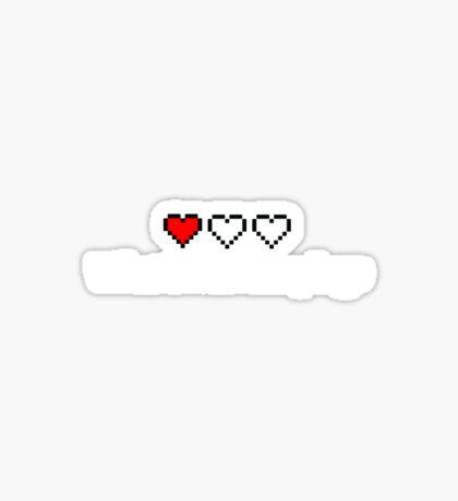 One Heart Left Sticker