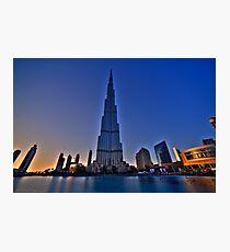 Burj Khalifa Sunset Photographic Print
