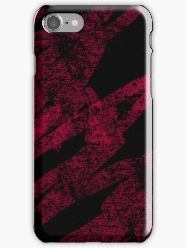Blood on Black iPhone Case by Denise Abé