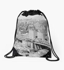 Mochila de cuerdas Manhattan Black and White Photograph